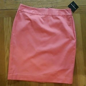 New petite coral colored skirt
